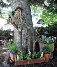 Increíble DIY Mini Fairy Garden para jardinería en miniatura 21 #LandscapingDIY