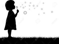 vector illustration of a little girl reaching for a ...