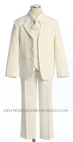 CA_5001BR - Boys Suit Style 5001- 5 Piece Suit Set - Boys First Holy Communion Suits - Flower Girl Dress For Less