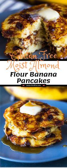 Gluten Free Bagels, Gluten Free Banana, Gluten Free Recipes, Low Carb Recipes, Banana Oat Pancakes, No Flour Pancakes, Paleo Pancakes Almond Flour, Oat Flour, Almond Flour Recipes