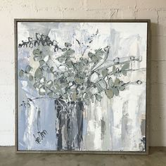 This beautiful giclee, or canvas print, is an exact replica of the original painting by Deann. It shows the texture, and depth of the original painting. It is hand-stretched on canvas and gallery-wrap Farmhouse Paintings, Rustic Painting, Canvas Art, Canvas Prints, Painting Inspiration, Flower Art, Decoration, Original Paintings, Artwork