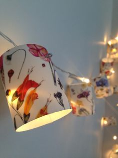 Liberty  Print Botanical Flower Fairy lights. Love this? visit @myrealfairy and www.myrealfairy.com for more...