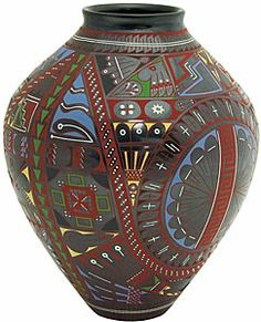 Cesar Nunez $499.00 - Mata Ortiz pottery is Mexico's greatest example of fine ceramics and contemporary folk art.  It originates from the tiny town of Mata Ortiz, in northern Mexico, where world-renowned master potter Juan Quezada created the unique Mata Ortiz style.