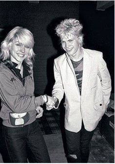 Debbie Harry (Blondie) and Billy Idol (Generation X)