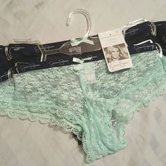 SALE Jessica Simpson Panties Beautiful lace cheeky panties. Navy blue and Teal Jessica Simpson Intimates & Sleepwear Panties