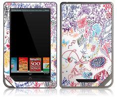 NOOK Tablet Color Skin Cover - Doodle