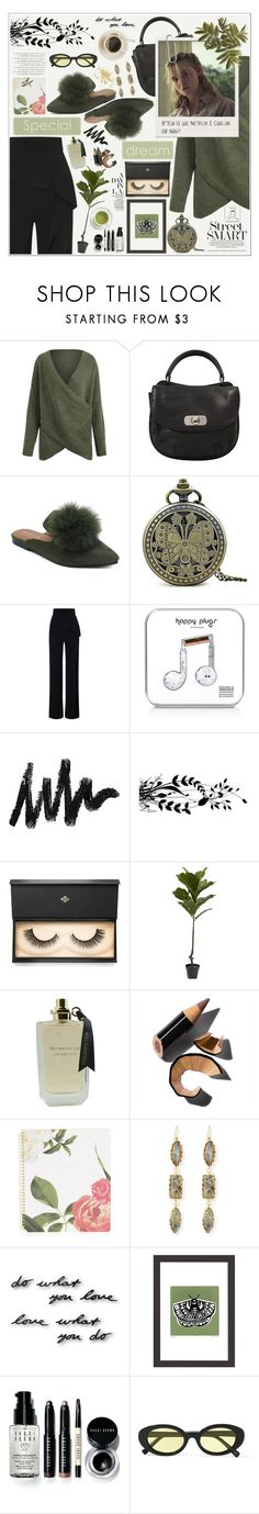 """""""Green is the Real Color Of Autumn ♥"""" by av-anul ❤ liked on Polyvore featuring Marni, Roland Mouret, Happy Plugs, Lash Star Beauty, Bobbi Brown Cosmetics, Lana, Umbra, Lu West, Elizabeth and James and vintage"""
