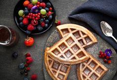Desayuna waffles sin culpas