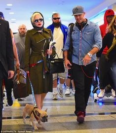 Lady Gaga and Taylor Kinney arrives back in NYC