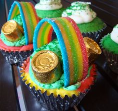 Lucky St. Patrick's Day Cupcakes.