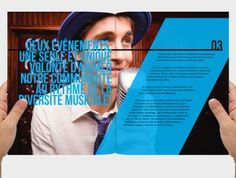 This brochure is the major marketing tool to find sponsors for the «Concours de la chanson francophone de Québec We use spread and expressive pictures to give the feeling and the flavor of this special contest. Web Design, Page Layout Design, Book Layout, Design Editorial, Editorial Layout, Design Brochure, Brochure Layout, Arkansas, Medical Brochure