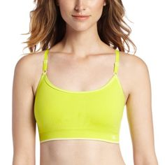 a445807c8e7a7 Champion Womens Seamless Cami Sports Bra CitrineWhite XLarge    You can  find more details by