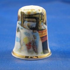 Fine China Thimble Quiltwork with Sewing Machine | eBay
