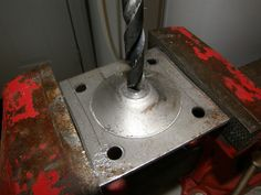 The mounting bracket had to be drilled out to accept the bolt.