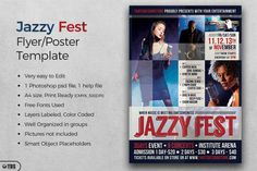 Jazzy Fest Flyer Template | The Hungry JPEG
