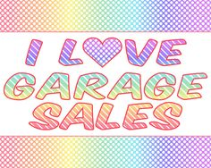 Garage sale inspired printables. I love garage sales!