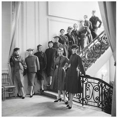 Mark Shaw Editioned Photograph-House of Dior-The First 13 Diors, 1953 | From a unique collection of antique and modern photography at http://www.1stdibs.com/furniture/wall-decorations/photography/