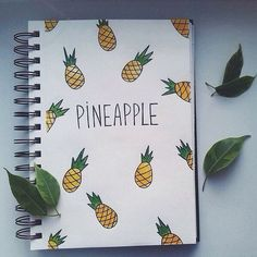 Pineapple Notebook | DIY School Supplies for Teens