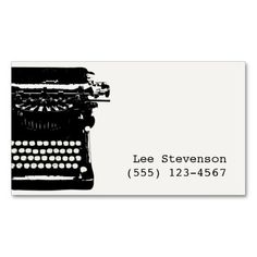 Writer vintage old scripts typewriter business card business writer vintage typewriter business card colourmoves