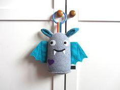 Halloween Baby Toy: Plush Hanging Toy Bat Rattle £10.50 #halloween #toy #bat