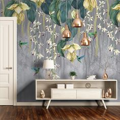 Trailing Orchid Panel - Osborne and Little Orchid Wallpaper, Home Wallpaper, Wallpaper Designs For Walls, Mural Wall Art, Living Room Sets, Orchids, Room Decor, Interior Design, Bedroom Radiators