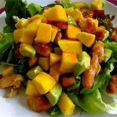 """Chicken, Avocado and Mango Salad 