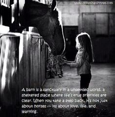 Little girls and horses