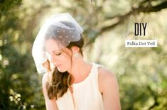 Graceful Short DIY Polka Dot Veil - http://www.2016hairstyleideas.com/wedding/graceful-short-diy-polka-dot-veil.html
