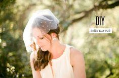 Graceful Short DIY Polka Dot Veil - http://www.2016hairstyleideas.com/wedding/graceful-short-diy-polka-dot-veil.html