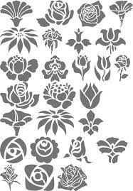 Folk Art Flowers Font: Folk Art Flowers was inspired by the flowers used in many folk art designs. Stencil Patterns, Stencil Art, Stencil Designs, Flower Stencils, Folk Art Flowers, Flower Art, Logo Fleur, Art Nouveau, Fabric Painting