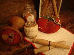 primitive sewing gathering