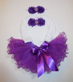 Newborn or 03 tutu outfit Purple Hot Pink tutu by LittleQTCouture, $38.00