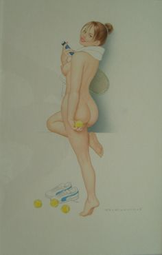 Archie Dickens - Anyone for Tennis, in craig macmillan's 02 PinUps - Calendar Art Comic Art Gallery Room Pin Up Art, Archie, Erotic Art, Pin Up Girls, Art Gallery, Comics, Classic, Illustration, Artist