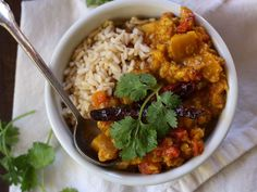 Red Lentil Pumpkin Dal