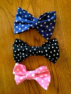 Polka Dot Party Bows by WithinThePines on Etsy