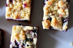 blueberry crumb bars by smitten, via Flickr