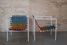 PRZEPLATANKA na FUTU.PL Krzesła autorstwa Erica Trine to designerska przeplatanka wykonana z tęczy.