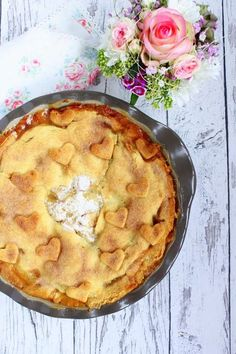 Rezepte mit Herz: Amerikanischer Apple Pie ♡