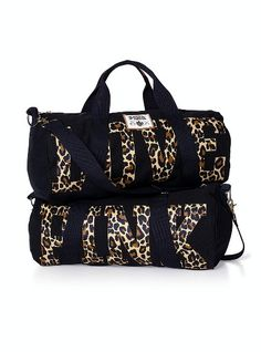 Victoria Secret leopard duffle bag travel with style | LUUUX