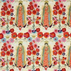 Amazon.com: Alexander Henry Folklorico La Virgencita Natural Gold Metallic, 44-inch Wide Cotton Fabric Yardage: Arts, Crafts & Sewing