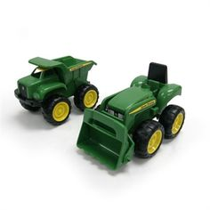 John Deere Toy Sandbox Vehicle Set (Truck & Tractor) #johndeere