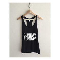 Sunday Funday Dirty Vintage Sheer Jersey Racerback Tank Top