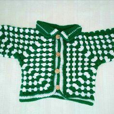 Crochet baby jacket