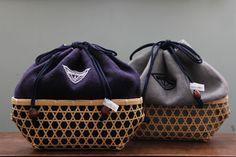collaborated kinchaku bags