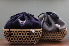 collaborated kinchaku bags