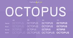 OCTOPUS new free font family #FreeFont from http://ortheme.com
