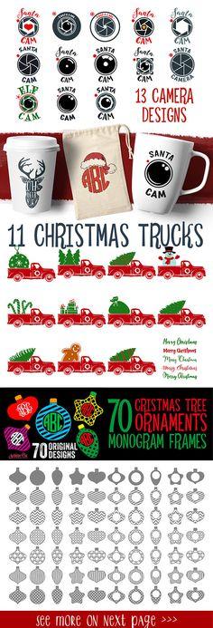 Christmas Svg Christmas Bundle Svg Christmas Svg Bundle Christmas Files Bundle Cut Files Silhouette Studio Cricut ScanNCut Svg Dxf Png Cdr