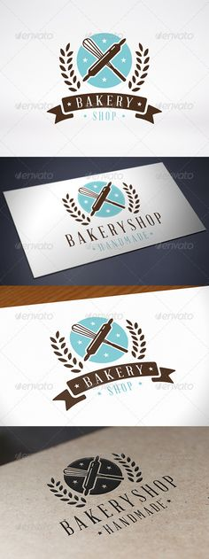 Bakery Logo Template — Vector EPS #logo template #bakery logo template • Available here → https://graphicriver.net/item/bakery-logo-template/8112694?ref=pxcr