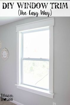 DIY Window Trim - The Easy Way | Bless'er House - I want to trim all the windows in our entire house like this! #windowtrim #diytrim #diyhome #blesserhouse