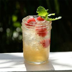 With fresh fruits and peach brandy, this updated cobbler is perfect for porch sipping